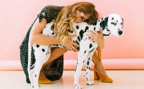 Companionship - girl with dog