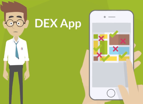 Dex app - a variety of places
