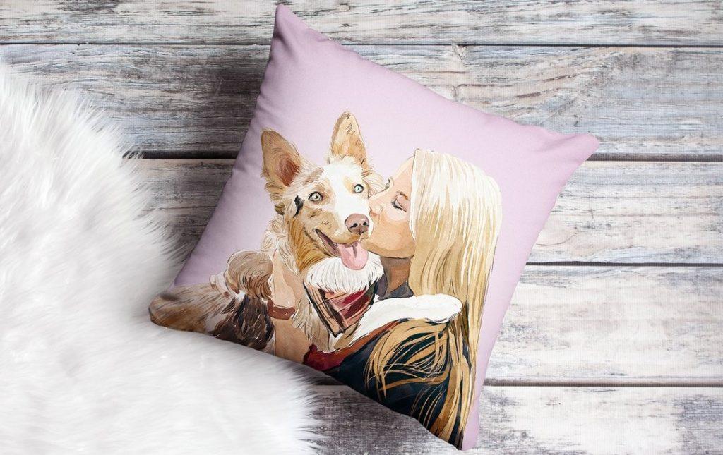 Custom made pet pillow